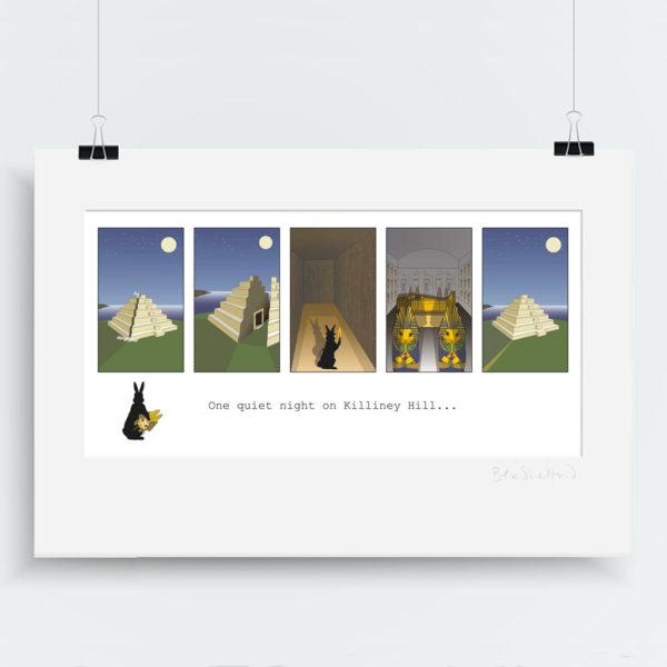 OQN Pyramid Killiney Hill Art Print